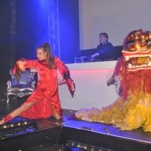 Aziatische striptease show