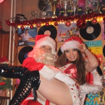 Kerst duo striptease