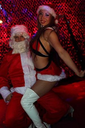 Kerstman stripper
