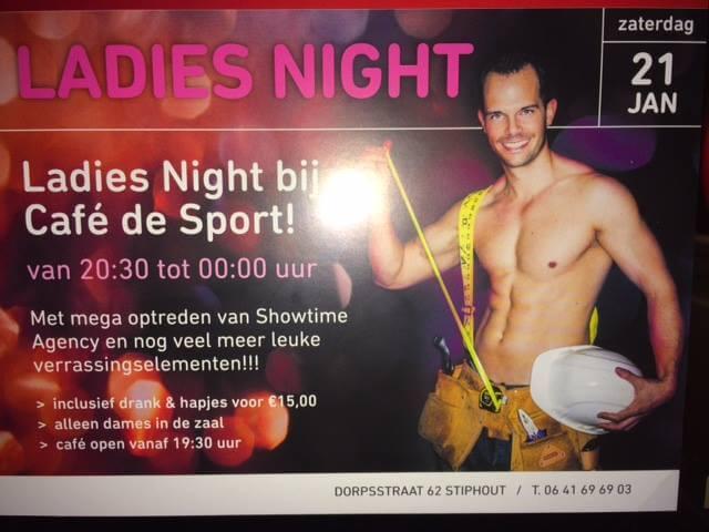 Stripper bij een ladiesnight in Helmond